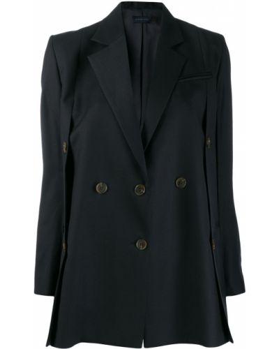 Однобортный синий классический пиджак с карманами Eudon Choi