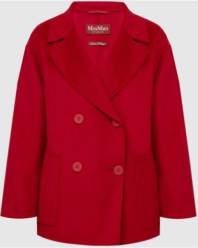 Шерстяное пальто - красное Max Mara