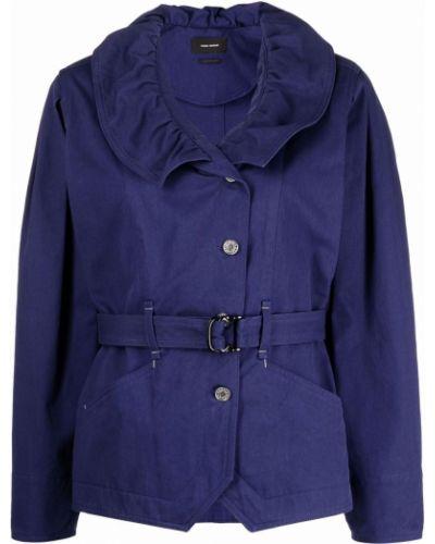 Синяя куртка длинная Isabel Marant