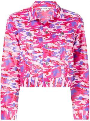 Розовая короткая куртка с воротником с карманами Comme Des Garçons Girl