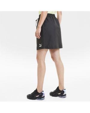 Черное платье с логотипом Puma