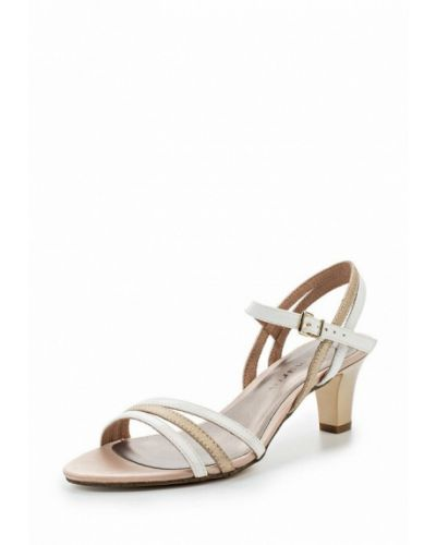 Белые босоножки на каблуке Tamaris