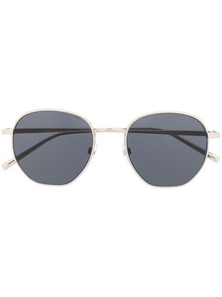 Серебряные солнцезащитные очки металлические Marc Jacobs Eyewear