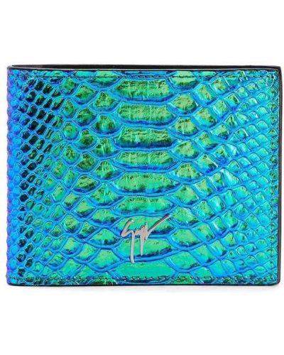 Portfel skórzany - niebieski Giuseppe Zanotti