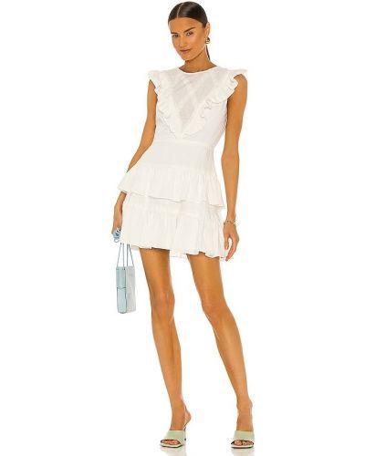 Biała sukienka mini sznurowana Bcbgmaxazria