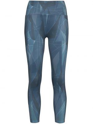 Niebieskie legginsy z printem Sweaty Betty
