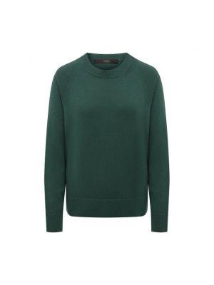 Кашемировый пуловер - зеленый Windsor