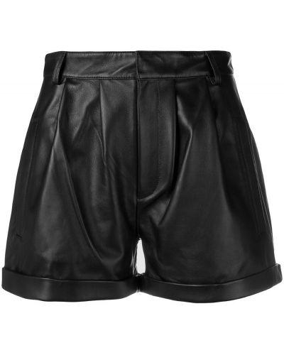 Однобортные черные шорты с воротником Federica Tosi