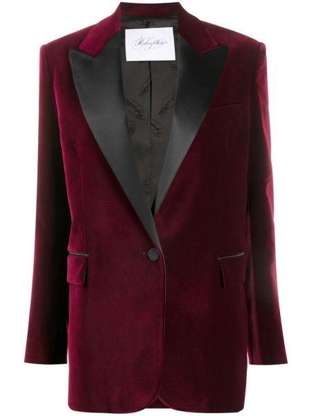 Приталенная черная длинная куртка с отворотом с карманами Redemption