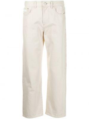 Białe mom jeans bawełniane Gcds
