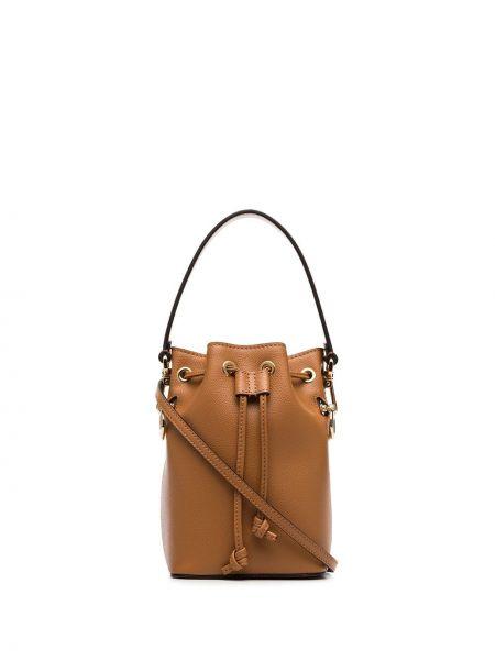 Skórzana torebka mini z uchwytem Fendi