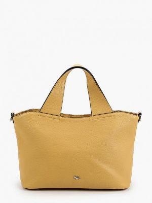 Желтая сумка с ручками из натуральной кожи Labbra