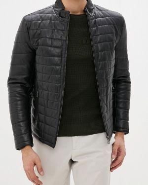 Кожаная куртка - черная Jimmy Sanders