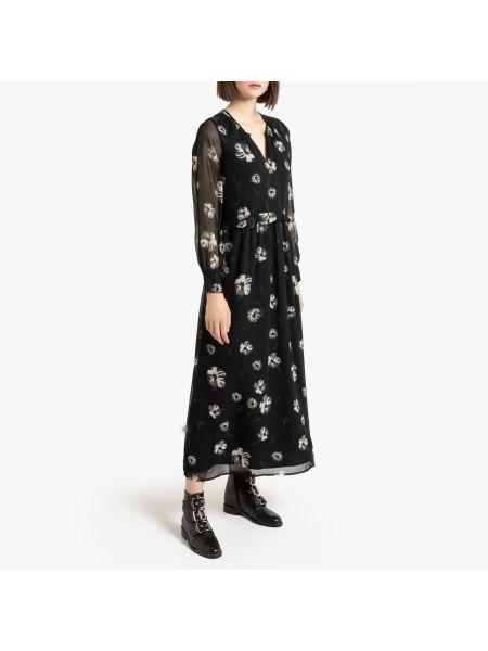Платье на пуговицах с цветочным принтом La Redoute