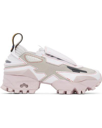 Różowe sneakersy skorzane sznurowane Reebok By Pyer Moss
