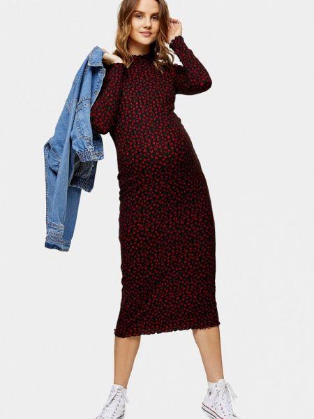 Платье для беременных прямое красный Topshop Maternity