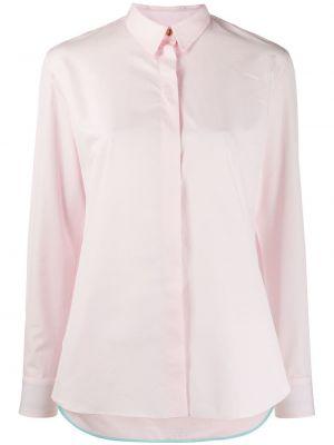 Розовый шелковый с рукавами топ Paul Smith