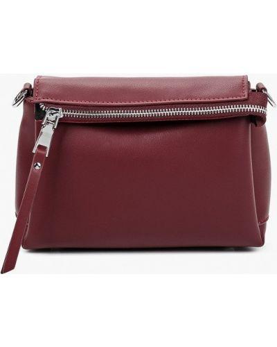 Красная сумка через плечо из натуральной кожи Marco Bonne