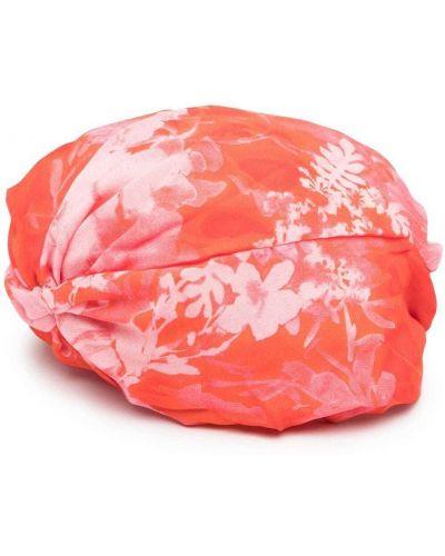 Różowy kapelusz z wiskozy z printem Pinko