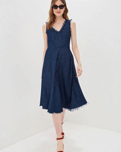 Джинсовое платье турецкий синее Sisley