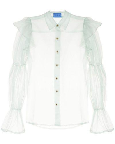 Блузка зеленый прозрачная Macgraw