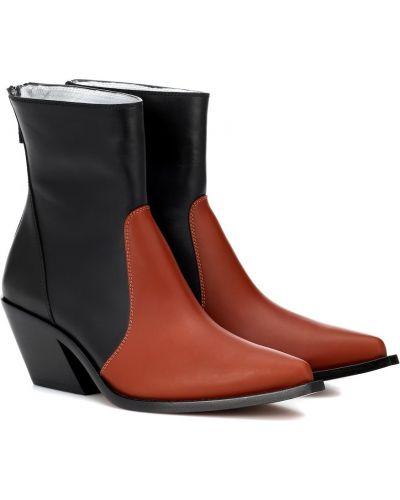 Skórzany czarny kowboj buty Givenchy