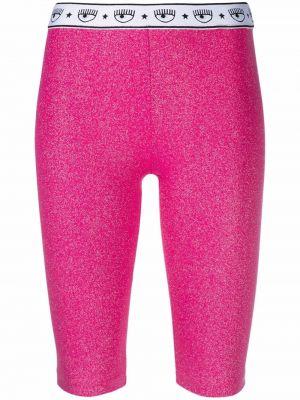 Розовые шорты из спандекса Chiara Ferragni