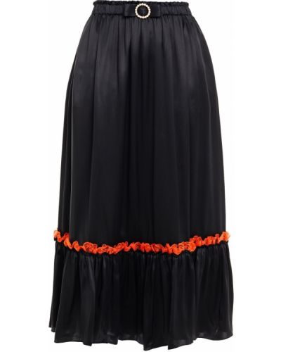 Ажурная сатиновая черная юбка Shrimps