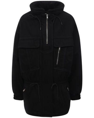 Хлопковая джинсовая куртка - черная Denim X Alexander Wang