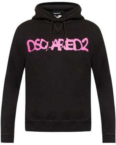 Bluza dresowa z kapturem - czarna Dsquared2