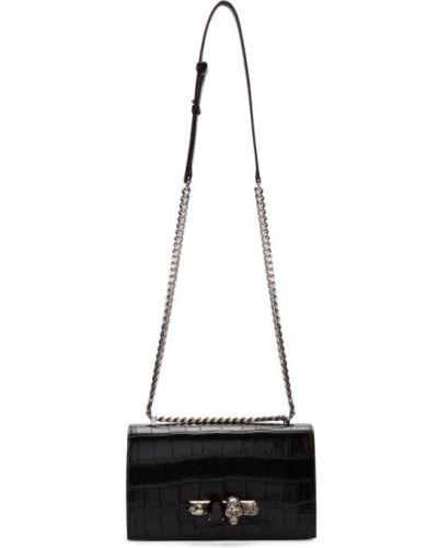 Черный кожаный ранец с карманами Alexander Mcqueen