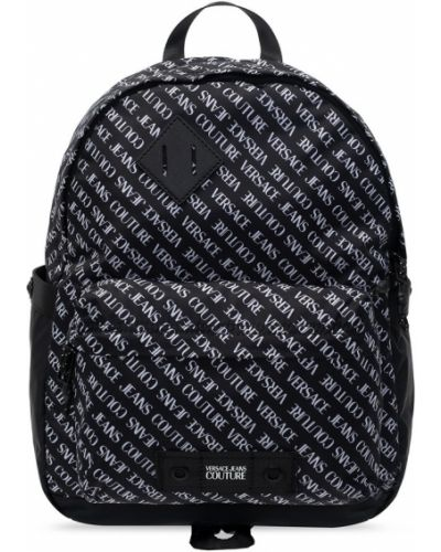 Czarny plecak casual z printem Versace Jeans Couture