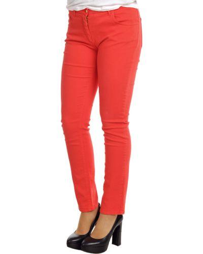 Красные хлопковые джинсы Etro