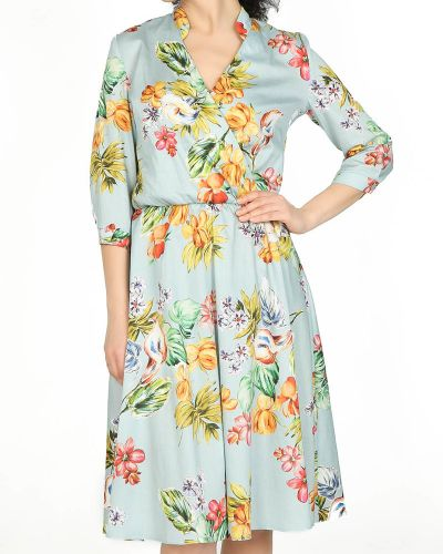 Деловое платье классическое с V-образным вырезом Glam Casual