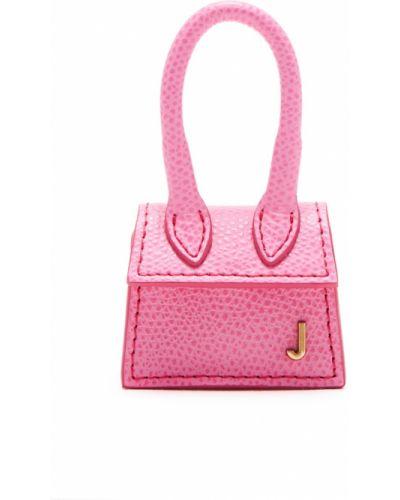 Кожаная сумка розовый маленькая Jacquemus