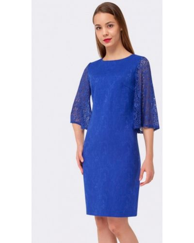 Платье мини осеннее синее Cat Orange