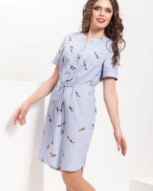 Платье макси в полоску на пуговицах Modellos