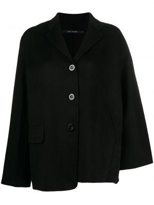 Однобортный черный удлиненный пиджак с карманами Sofie D'hoore