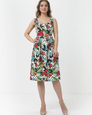 Летнее платье с цветочным принтом с поясом Mariko