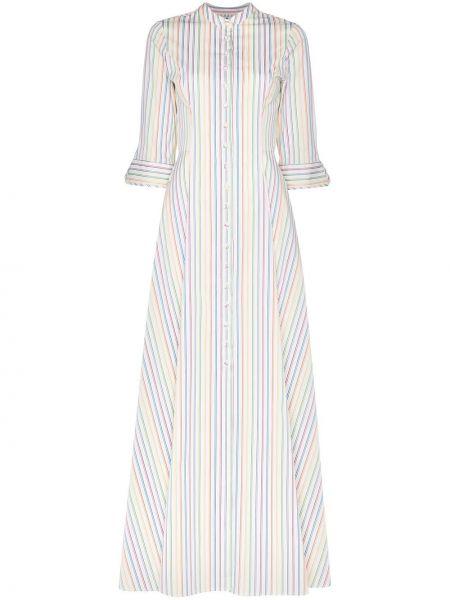 Biała sukienka długa w paski bawełniana Evi Grintela