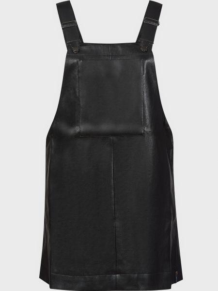 Платье из вискозы - черное Oneteaspoon