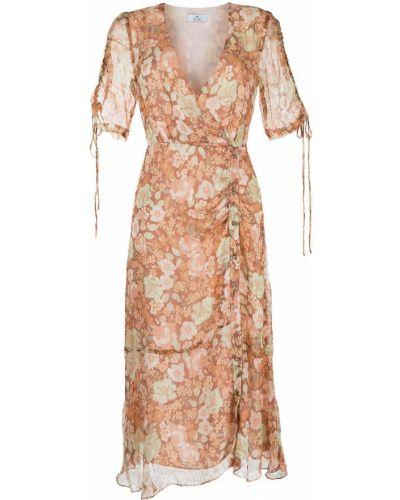 Шелковое платье миди с запахом с короткими рукавами We Are Kindred