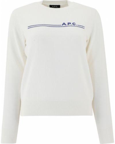Biały sweter A.p.c.