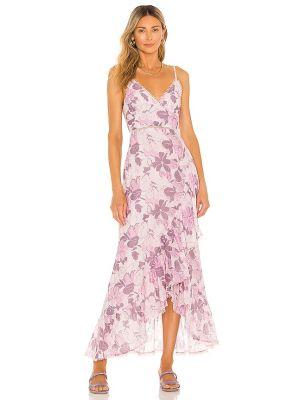 Fioletowa ażurowa sukienka Tularosa