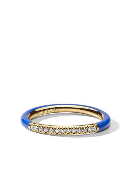 Тонкое кольцо золотое с бриллиантом Ippolita