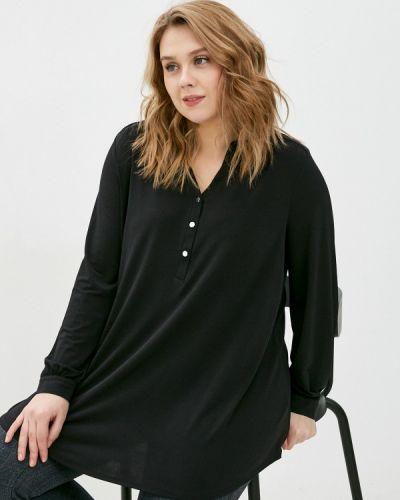 Черная блузка с длинными рукавами Evans