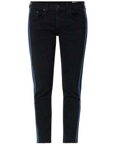 Niebieskie spodnie w paski bawełniane Rag & Bone
