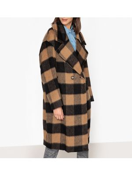 Пальто в клетку с принтом Essentiel Antwerp