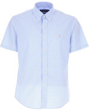 Koszula krótkie z krótkim rękawem dżinsowa lato Ralph Lauren