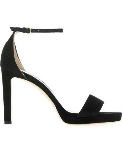 Złote sandały - czarne Jimmy Choo